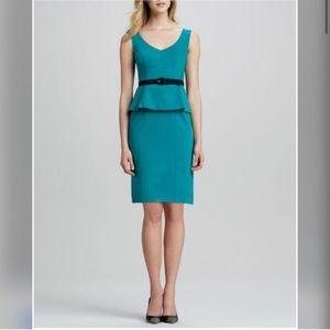 Nanette Lepore Teal Green Peplum Dress Size 0